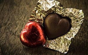 Фотографии День святого Валентина Сладкая еда Конфеты Шоколад Вдвоем