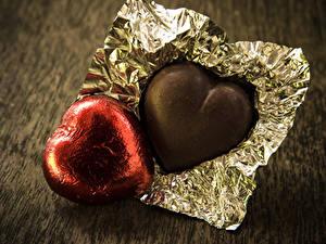 Фотографии День святого Валентина Сладкая еда Конфеты Шоколад Вдвоем Еда