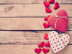 Обои для рабочего стола День святого Валентина Доски Шаблон поздравительной открытки Сердца