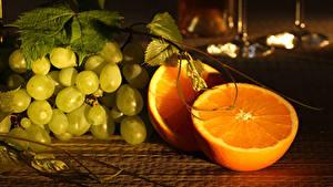 Обои Виноград Апельсин