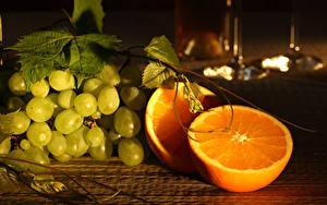 Обои Виноград Апельсин Пища