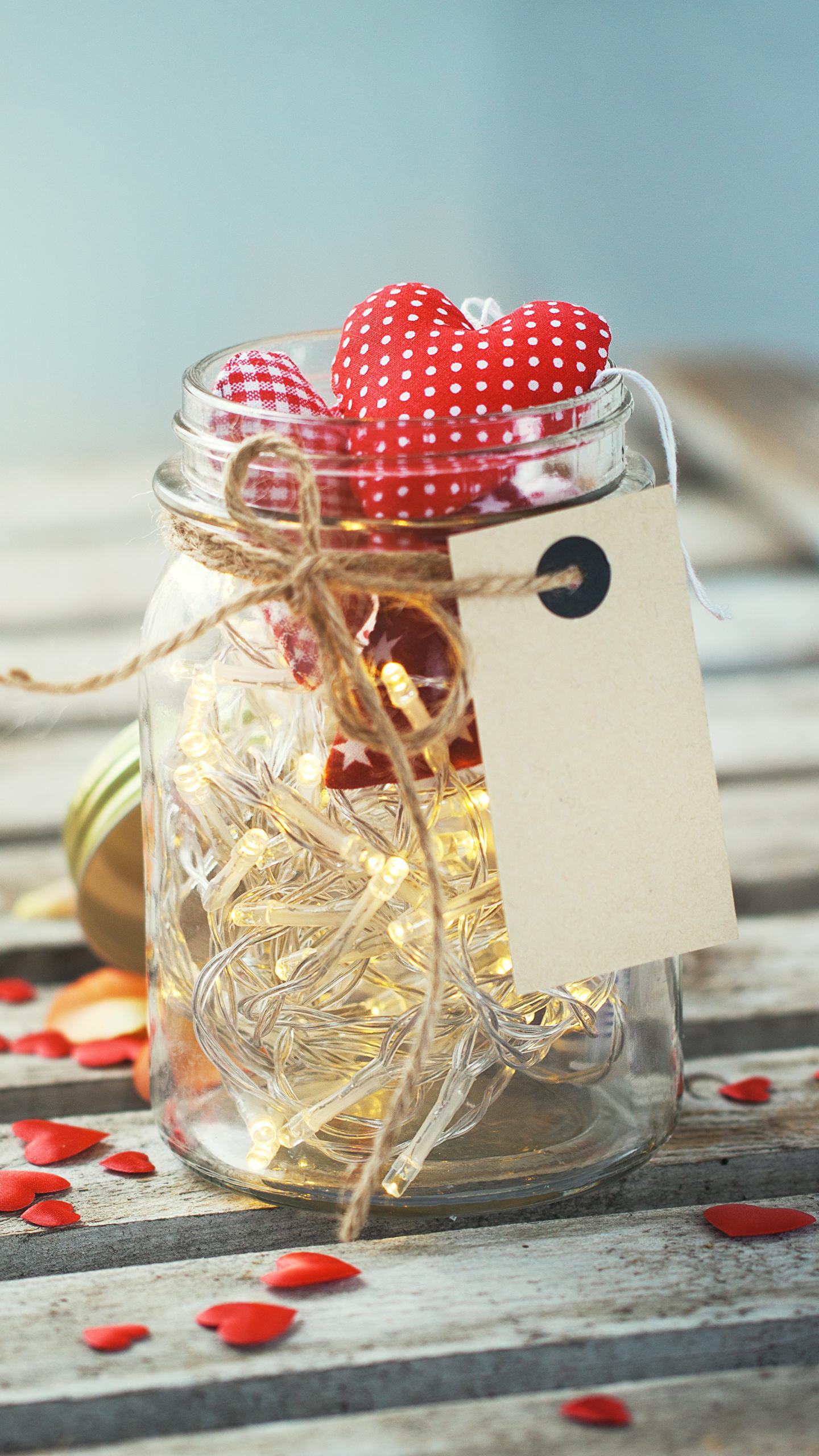 Картинка День всех влюблённых Сердце Банка 1440x2560 День святого Валентина сердечко