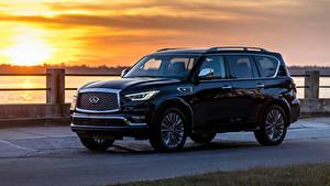 Фото Инфинити Черный Металлик SUV 2018 QX80 5.6 Автомобили