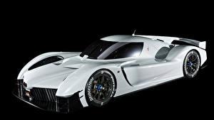 Фотография Тойота Черный фон Белых 2018 GR Super Sport Concept Автомобили
