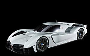 Фотография Тойота Черный фон Белый 2018 GR Super Sport Concept Автомобили