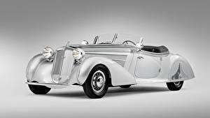 Обои Винтаж Серый фон Родстер Horch 853 Special Roadster by Erdmann 1938 Автомобили