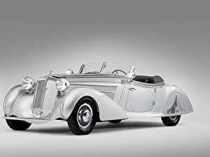 Обои для рабочего стола Винтаж Серый фон Родстер Horch 853 Special Roadster by Erdmann 1938 Автомобили
