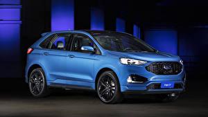 Картинка Ford Голубых 2018-19 Edge ST Latam Автомобили