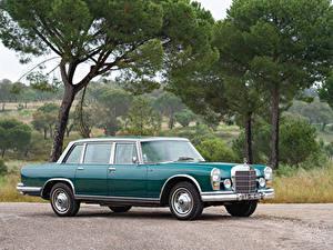 Картинка Старинные Мерседес бенц Зеленые Металлик 1966 600 by Chapron Автомобили