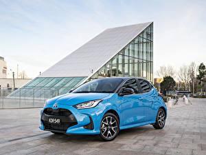 Картинка Toyota Голубой Металлик Yaris ZR Hybrid, AU-spec, 2020 Автомобили