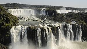 Картинки Аргентина Парк Водопады Реки Iguazu national Park, Iguazu, province of Misiones