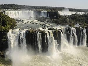 Картинки Аргентина Парк Водопады Реки Iguazu national Park, Iguazu, province of Misiones Природа