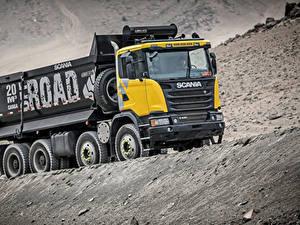 Картинка Грузовики Scania 8x4, G440, 2013 Автомобили