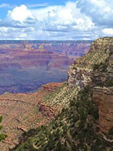 Фото Гранд-Каньон парк США Парки Облака Скалы Природа