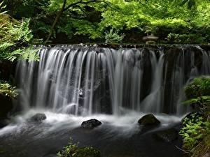 Фотография Водопады Камни Речка Природа