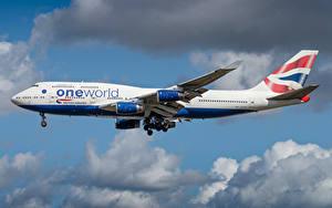 Фотографии Боинг Самолеты Пассажирские Самолеты Сбоку British Airways