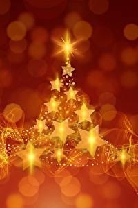 Картинка Новый год Звездочки Новогодняя ёлка