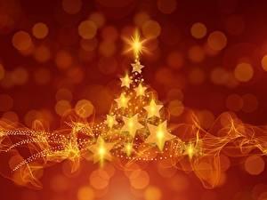Картинка Новый год Звездочки Елка