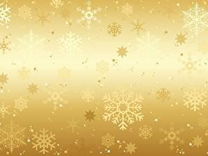 Картинки Текстура Новый год Золотой Снежинки