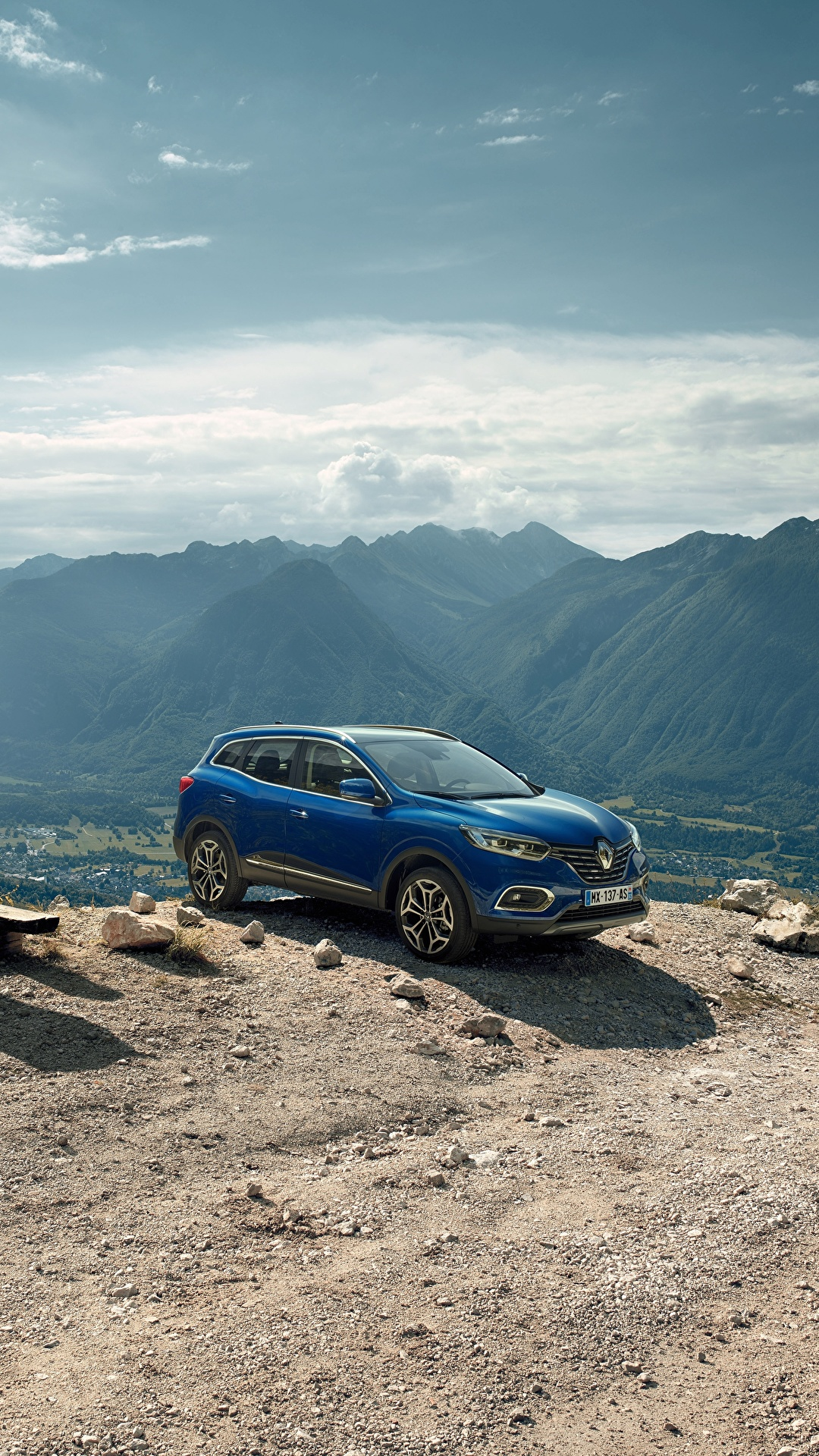 Картинка Рено 2018 Kadjar Worldwide Синий Автомобили 1080x1920 Renault Авто Машины