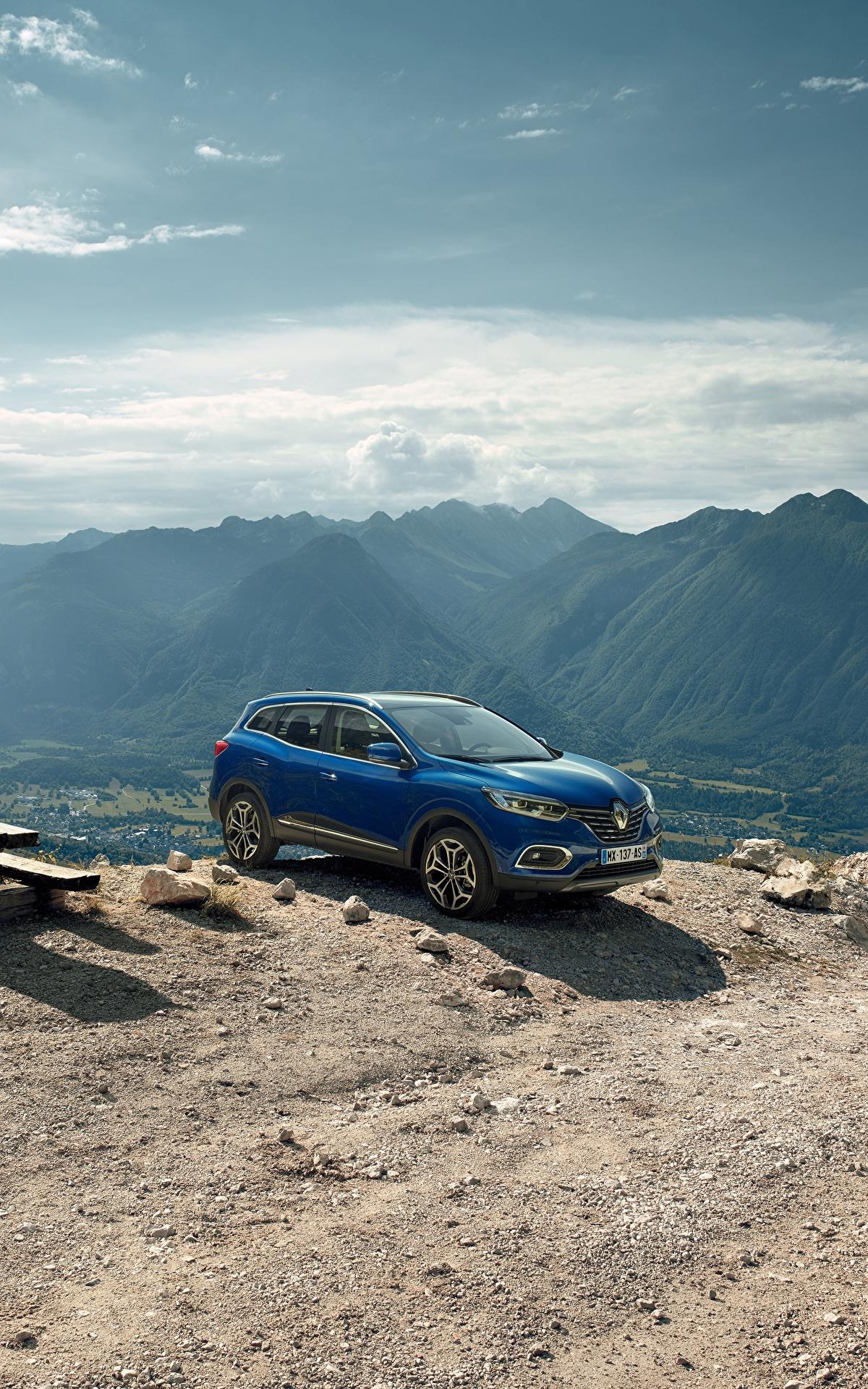 Картинка Рено 2018 Kadjar Worldwide Синий Автомобили 1200x1920 Renault Авто Машины