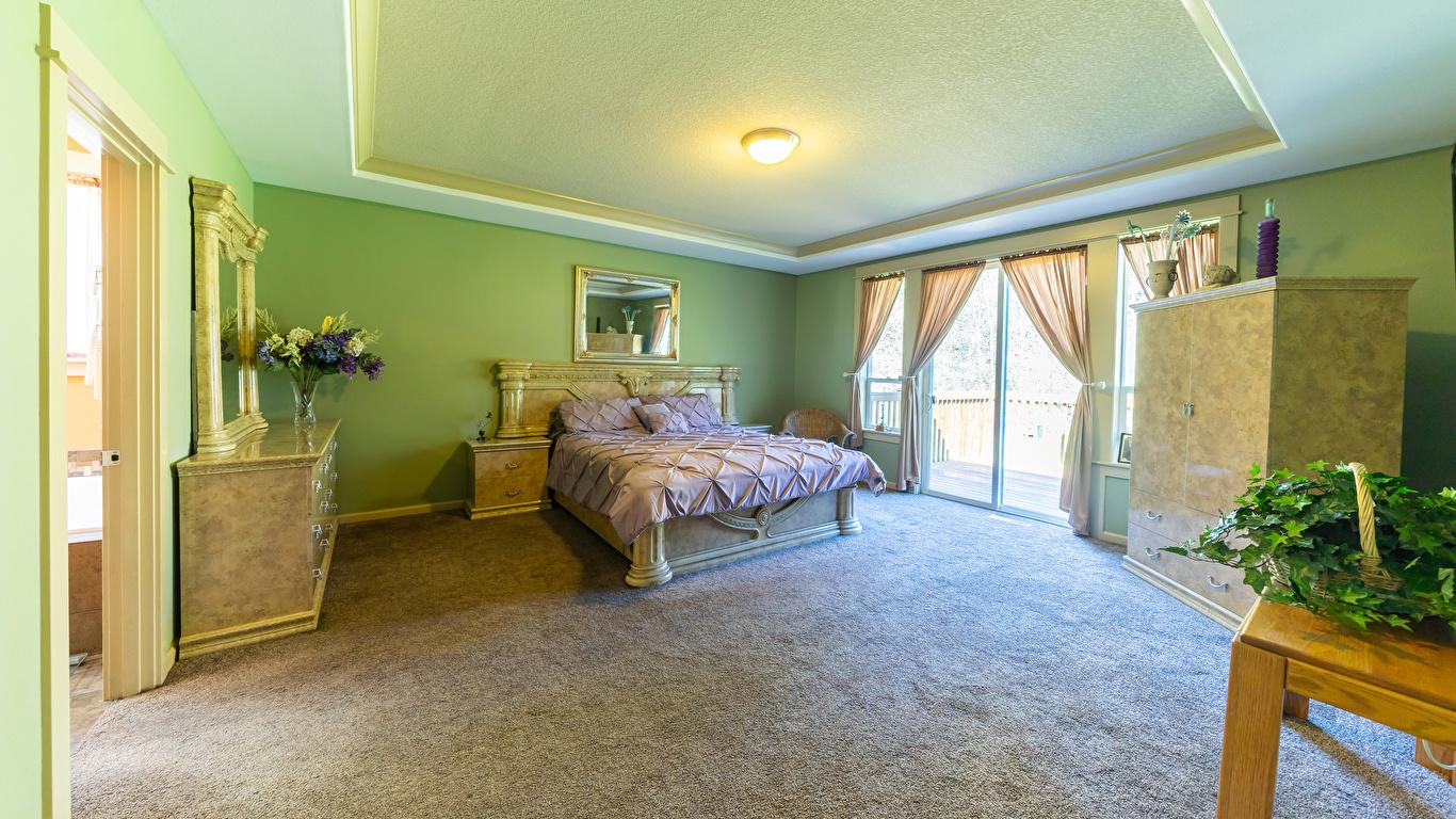 Обои для рабочего стола спальни Интерьер кровати Дизайн 1366x768 Спальня спальне постель Кровать дизайна