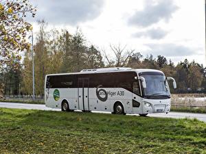 Обои Scania Автобус Белый 2012-17 Higer A30