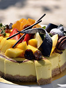 Картинка Сладости Торты Шоколад Фрукты Пища