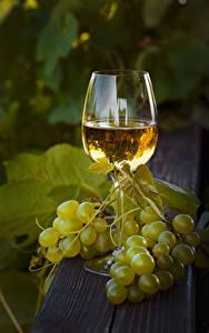 Картинка Вино Виноград Бокалы