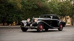 Фотография Мерседес бенц Винтаж Черных Металлик 1935-36 500K Cabriolet A автомобиль