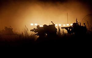 Фотография Чужой: Завет Воины Автоматы Силуэт Кино