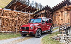 Фотографии Mercedes-Benz Красный Металлик Внедорожник 2019 G 350 d AMG Line Worldwide