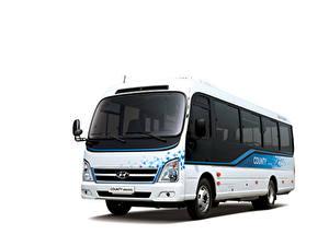 Обои Hyundai Автобус Белый фон County Electric, 2020 автомобиль
