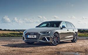 Фотографии Audi Серые Металлик Универсал 2019 S4 Avant TDI машина