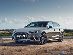 Фотографии Audi Серые Металлик Универсал 2019 S4 Avant TDI
