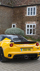 Картинки Lotus Желтый Металлик Вид 2016 Evora Sport 410 Автомобили