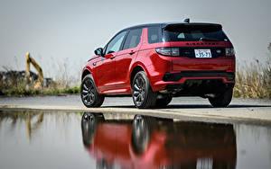 Картинка Range Rover Сзади Красная Металлик SUV Discovery Sport D180 SE R-Dynamic, JP-spec, L550, 2020 автомобиль