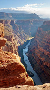 Картинки Гранд-Каньон парк США Парки Горы Реки Каньоны Скалы