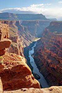 Картинки Гранд-Каньон парк США Парки Горы Реки Каньоны Скалы Природа