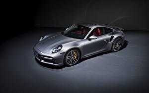 Фотография Porsche Купе Металлик Серебряная 911, Turbo S, 2020, 992 Автомобили