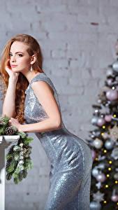 Фотография Рождество Платье Елка Шар