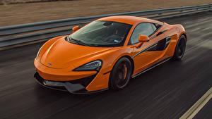 Обои McLaren Оранжевые Металлик Едущая 2018–20 Hennessey McLaren 570 авто