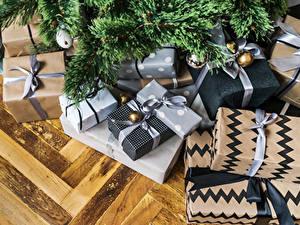 Фото Рождество Ветвь Подарки