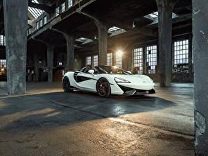 Картинка Макларен Белый Металлик 2018 Novitec 570S Spider Авто