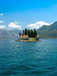 Фотография Черногория Остров Гора Залив Bay Kotor, Perast