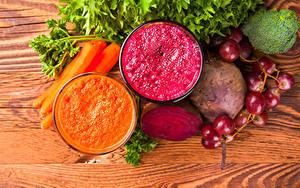 Обои Овощи Виноград Морковь Смузи Свекла 2 Двое Пища