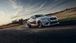 Фотографии BMW Едущий Белых 2020 M2 CS Racing Автомобили