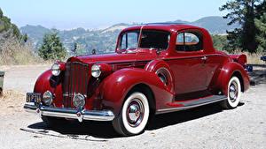 Картинка Старинные Темно красный Металлик 1939 Packard Twelve 2-4-passenger Coupe машина