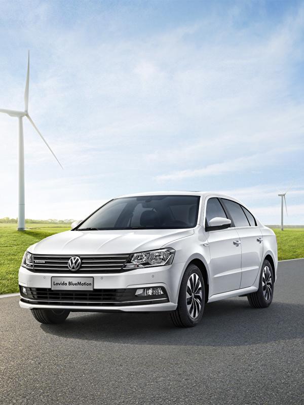 Картинка Volkswagen 2015 Lavida Седан белая Автомобили 600x800 для мобильного телефона Фольксваген Белый белые белых авто машины машина автомобиль