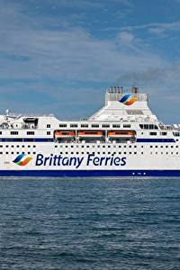 Обои Море Корабль MV Normandie, Brittany Ferries